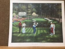 Masters Champion George Archer Billy Casper Charles Coody Signed print by Betley