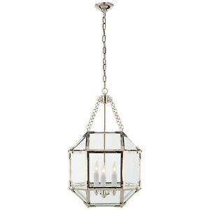 Visual Comfort Morris Small Lantern in Polished Nickel SK5008PN