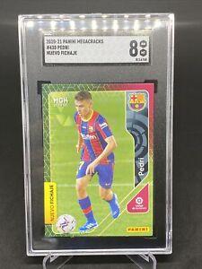 2020-21 Panini Megacracks #430 Pedri FC Barcelona RC Rookie SGC 8 NM-Mint