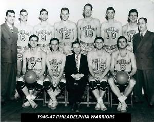 1946-47 PHILADELPHIA WARRIORS team 8X10 PHOTO BASKETBALL NBA