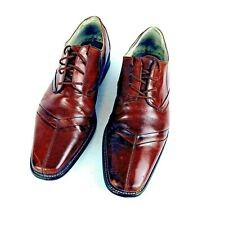 Stacy Adams Men's Shoe Size 10.5 Leather Lace Ups Oxfords Cognac Dress Shoes