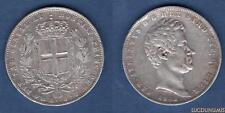 Italie 5 Lire 1842 Genes TTB Charles Albert Carlo Alberto - Italia