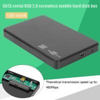 2.5 inch Hard Drive Box SATA USB2.0 HDD Case External Hard Disk Enclosure USA