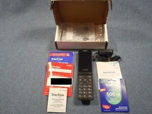 Complete Burner / Prepaid Phone●Alcatel Flip Phone & Plan w/ 500 Min.+500 Texts