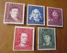 EBS Generalgouvernement 1944 Cultural Figures set Michel 120-124 Fine Used