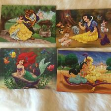 DISNEY Princess 4 PACK Jigsaw Puzzle VINTAGE Little Mermaid SNOW WHITE RARE