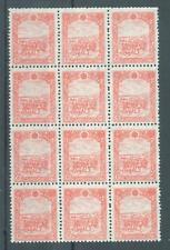 China Manchukuo 1944 6f horse & cart sg.150 MNH block of 12 (gummed)