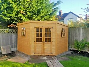 9x9ft corner Summerhouse shed