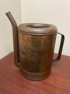 Antique SwingSpout Measure Co. 1 Gallon Oil Filler Can. Pat 1915   Swing Spout