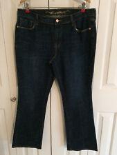 "Old Navy ""Sweetheart"" Womens Dark Blue Bootcut Denim Jeans Size 14 Short"