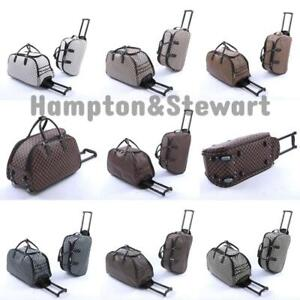 New Ladies Women's Travel Holdall Trolley Luggage Bag With Wheels Holiday Bags