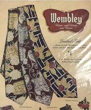Wembley Mens Ties Fashion Magazine Print Ad Vintage Clothing Accessories Necktie