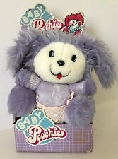 1986 Mattel Baby Poochie Plush Toy New In Box Lavender Purple Pink