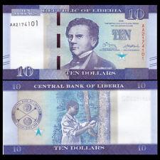 Liberia 10 Dollars, 2016(2017), P-NEW, AA Prefix, New design, UNC