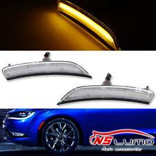 Clear Lens Front LED Side Marker Lights For Chrysler 200 2015 2016 2017 Amber