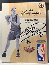 Dirk Nowitzki 2016 Upper Deck Supreme Hard Court Autograph Floor # 11/41