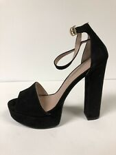 Chinese Laundry Avenue Micro Suede Black Womens Platform Heel Pump 9 M
