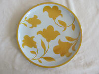 Block Hearthstone Vista Alegre -Ginger -Yellow Flowers-Portugal - Dinner Plate