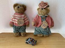 Boyds Bears & Friends Plush Edmund T. Bear & Bailey Bear - #9199 Free Ornament
