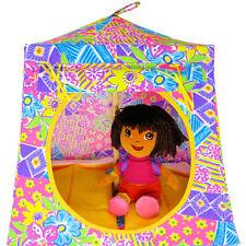 Multicolor pastel, flower print Toy Play Camping Tent, 2 Sleeping Bags, handmade
