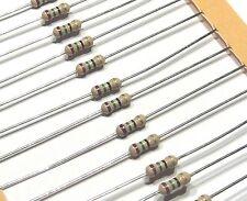 50 x resistance couche carbone 75R 75ohm 75 ohm  1/4W 5%                     RCQ