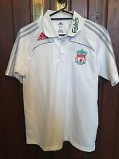 ADIDAS CLIMA 365 LIVERPOOL FOOTBALL CLUB WHITE POLO TOP SIZE LARGE