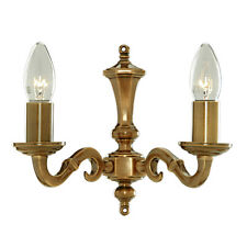 Searchlight 1072-2NG Malaga Solid Brass 2 Light Wall Bracket Metal Candle Tubes
