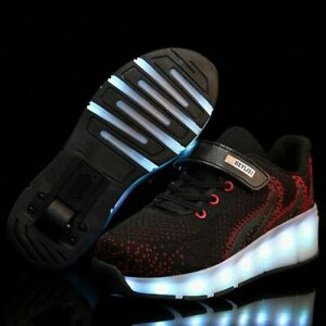 Glowing Sneakers With Wheels  Kids Led Shoes Led Light Up Sport Shoes
