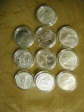 10 BU Modern Commemorative Silver Dollars Madison Edison Jefferson Yellowstone