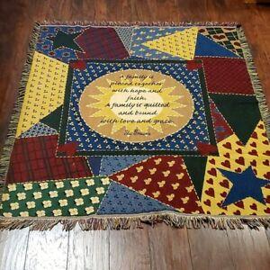 MOHAWK Vintage rare boho gypsy rug ''Family ''made in USA 48x56