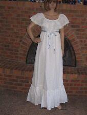 Vintage 70s Wedding Dress Cotton Eyelet Hippy Bohemian Charm of Hollywood Small