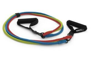 Spri Ignite Resistance 3 in 1 Band Kit Exercise Fitness Stretch Workout