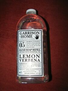 No 05 LEMON VERBENA Garrison + Home & Body Co HAND SOAP Refill 64 oz