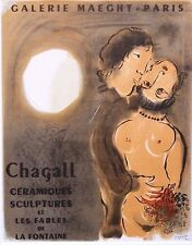 """Marc CHAGALL montato Mourlot litografia, 1959 affiches Originales, 14 x 11"""" AO16"""