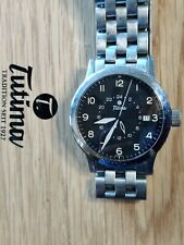 Tutima Pilot FX Automatic Watch FX UTC SMOOTH BEZEL with wooden box ~Authentic~