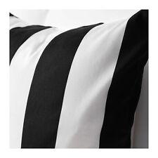 "IKEA VARGYLLEN DECORATIVE BLACK and WHITE STRIPE CUSHION COVER 50x50"""