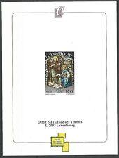 Luxembourg 1995 1334 épreuve Noël Nativité Vitrail église Alzingen