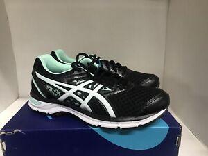 Asics Gel-Excite 4 Running Shoe Black/White/Mint Women's Size 8