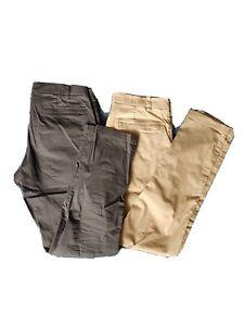 LULULEMON LOT 2 Men's Commission Pant Classic Warpstreme Gray Khaki Size 33 x 34