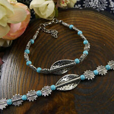 New hot Free shipping Tibet silver multicolor jade turquoise bead bracelet S33