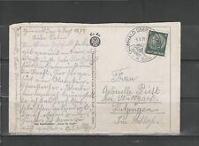 POSTKARTE Beleg Großformat Deutsches Reich 1938 GRÜNWALD über MÜNCHEN DITZINGEN