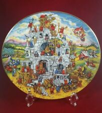 """Bill Bell """"Sense Of Purpose"""" #MA2240 Franklin Mint Collectible Plate Cats/Castle"""