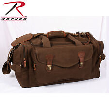 LONG WEEKEND TRAVEL CANVAS BAG IN BROWN WITH SHOULDER STRAP ROTHCO 9689 NEW