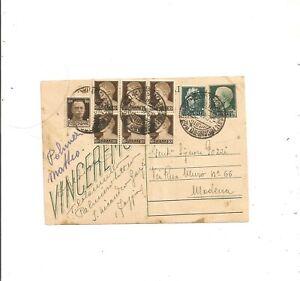 INTERO POSTALE VINCEREMO +DIVERSI IMPERIALE DA SAN NICANDRO GARGANICO 3/8/1945