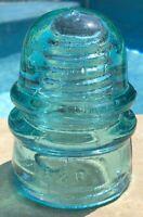 B&O W Brookfield 45 Cliff St New York Pat Jan 25 1870 Glass Insulator