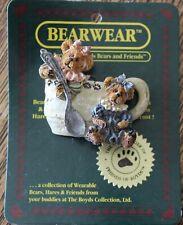 "Boyds Bears And Friends ""Bearwear"" Bailey & Friend Tea Time Pin On Card"