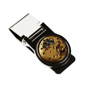 Steampunk Money Clip - Genuine Watch Movement