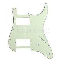 Electric Guitar Pickguard For Strat Replacement HH 2 Humbucker Mint Green 3Ply