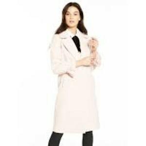 BNWT Very Oversize Sleeve Detail Neutral Coat Size 10 RRP £110 LLN9X