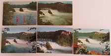 Postkarten Lot Schweiz Kanton Schaffhausen 5x WASSERFALL Waterfall River Falls